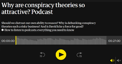 Why are conspiracy theories so attractive?