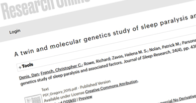 A twin and molecular genetics study of sleep paralysis