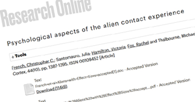 Psychological aspects of the alien contact experience